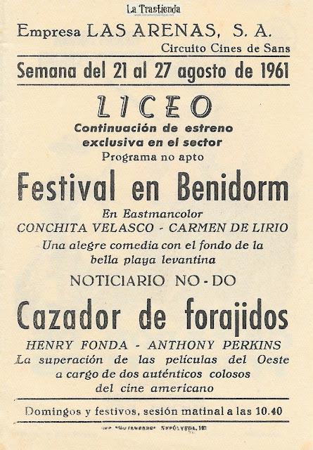 Cazador de Forajidos - Programa de Cine - Henry Fonda - Anthony Perkins - Betsy Palmer