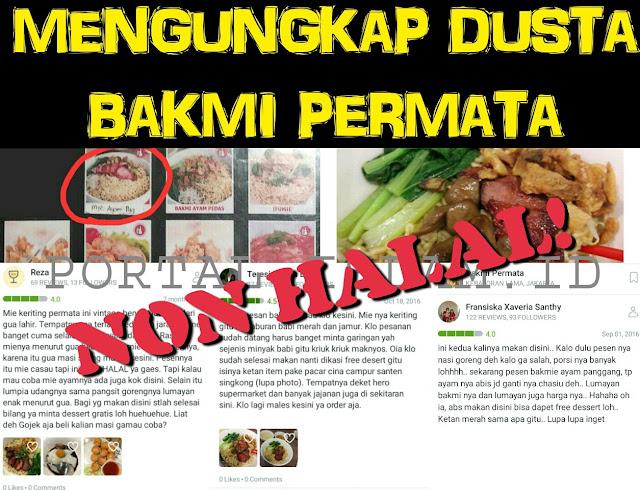 Kesaksian Pelanggan: Fakta, Bakmi Permata Memang Tak Halal, Titik!