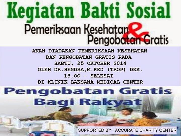 Bakti Sosial Yayasan Accurate Charity Center Medan Baksos Oktober