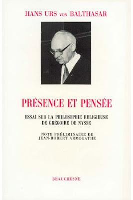 Hans Urs von Balthasar Grégoire de Nysse Beauchesne éditions