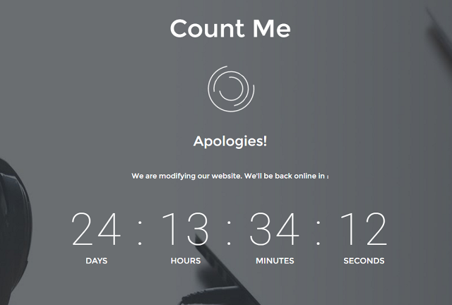 Count Me - Coming Soon Blogger Template
