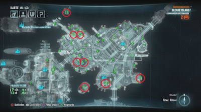 Batman Arkham Knight, Riddler's Puzzles, Bleak Island Map