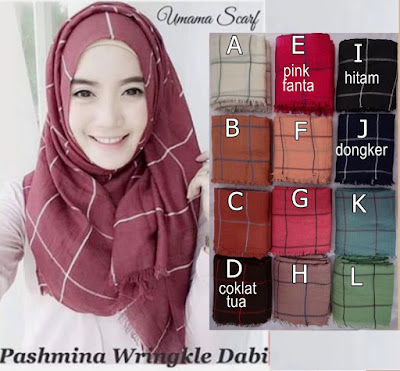 Model Jilbab Terbaru Pashmina Wringkle Dabi