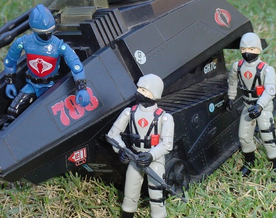 1984 Stinger Driver, 1983 Hiss Tank, 2003 Unproduced Wal Mart Sky Patrol Hiss Driver