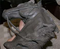 clay horse head sculpture, clay demonstration, clay sculpture demonstrations