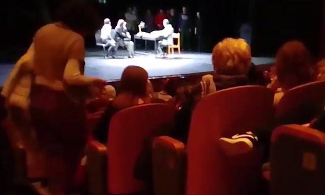 Μέλη του «Ιερού Λόχου» διέκοψαν παράσταση του ΚΘΒΕ που έβριζε το Χριστό και την Παναγία (video)