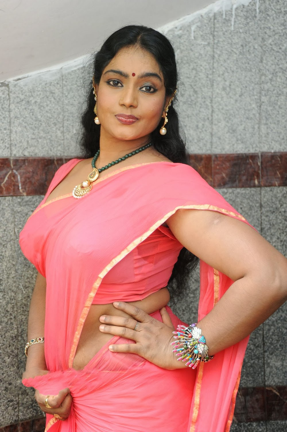 jayavani saree latest telugu actress spicy stills rajmahal movie shoot tollywood entertainment