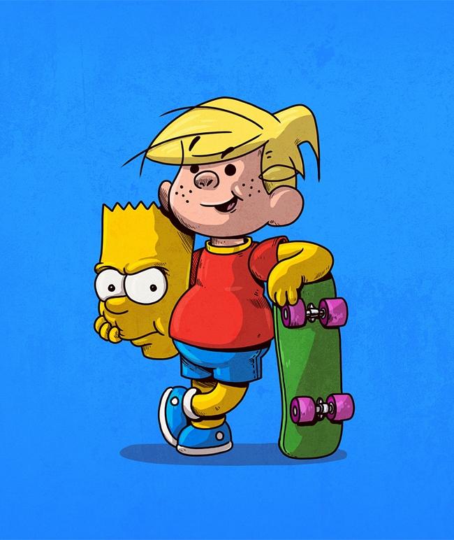 a mascara por tras dos personagens bart simpson - A máscara por trás dos seus personagens favoritos