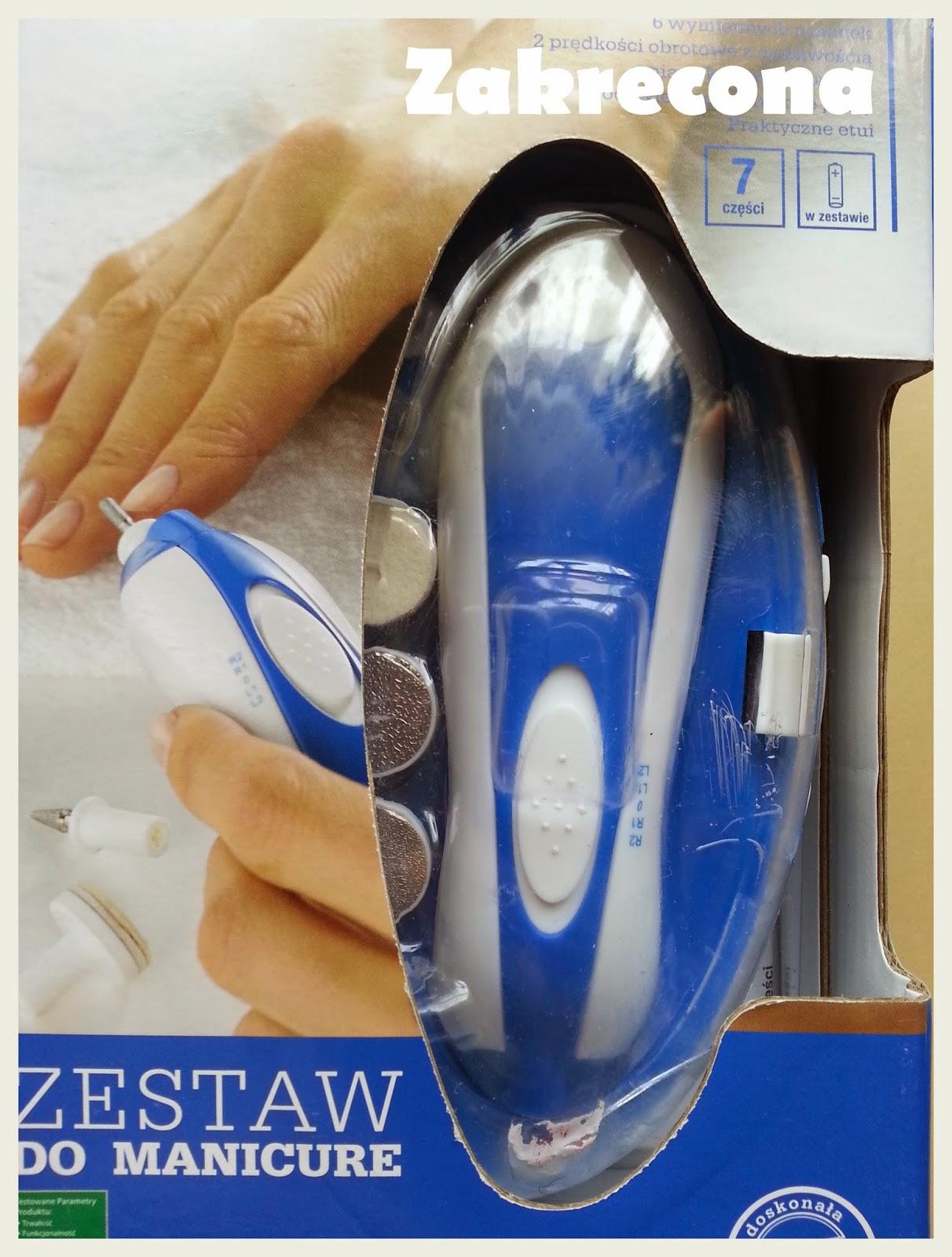 Frezarka, zestaw do manicure z Biedronki