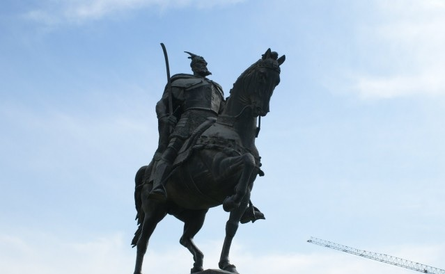 A statue of Skanderbeg in Parma after 12 years of efforts