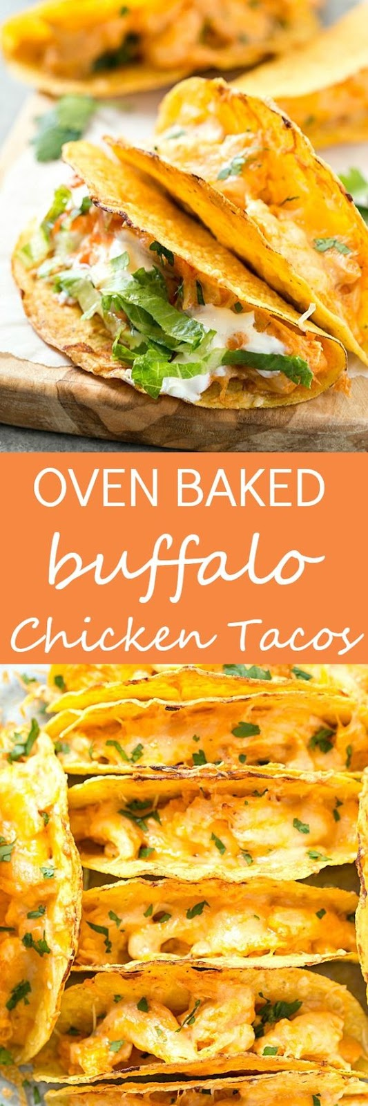 OVEN BAKED BUFFALO CHICKEN TACOS
