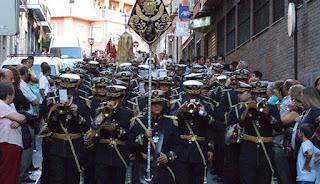 La Banda de las Tres Caídas de Granada con la Santa Cena
