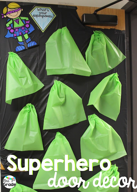 Superhero capes are a cheap and fun way to engage your students in your superhero day, and help bring some fun to your classroom decor!