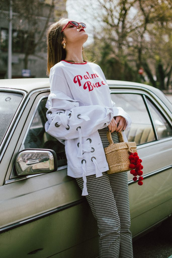 The best spring basics: gingham trousers and graphic t-shirts by Couture Zilla