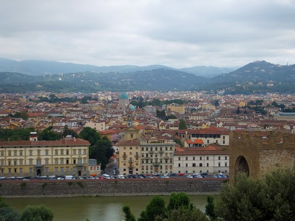 florence toscane belvédère piazzale michelangelo vue panorama arno