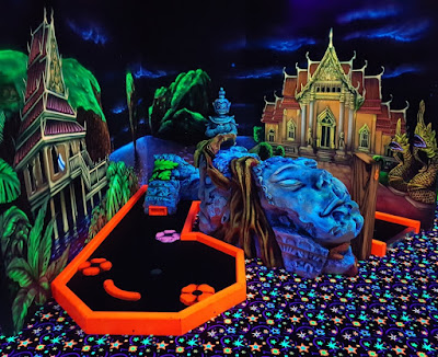 Glo-Golf indoor minigolf at the Riverside Bowl in Andover