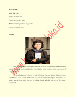 Contoh Resensi Novel Ayah Karya Andrea Hierata Bahasa Inggris dan Terjemahannya