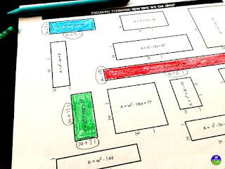 Fun with Quadratics | factoring quadratics activity
