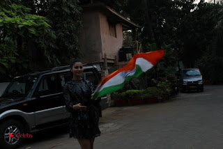 Bollywood Actress Model Urvashi Rautela Stills in Black Dress at Republic Day Celebrations  0013.jpg
