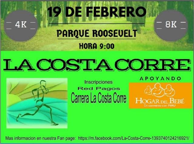 8k y 4k La Costa Corre benéficos (parque Roosevelt, 19/feb/2017)