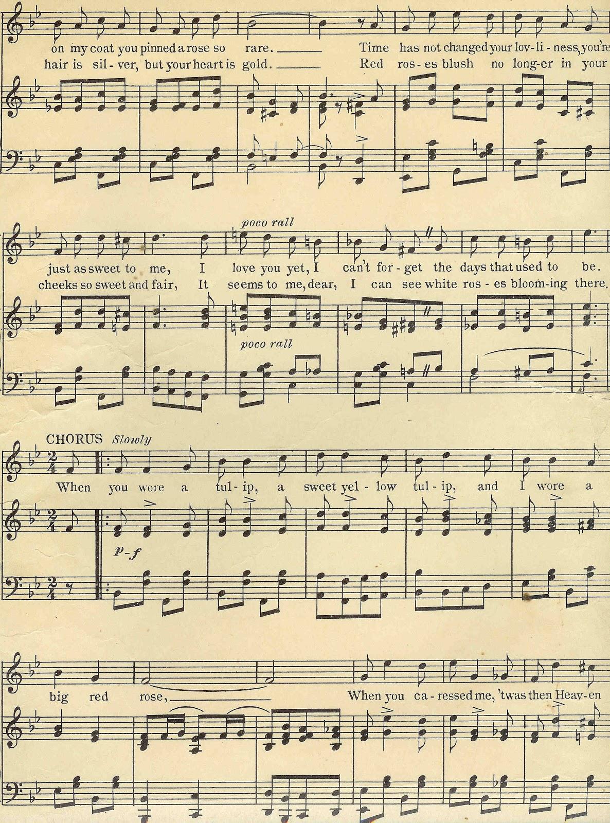 Antique Images Digital Background Of Sheet Music Vintage