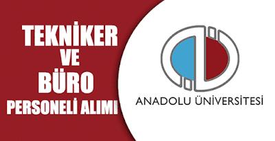 Anadolu üniversitesi personel alımı