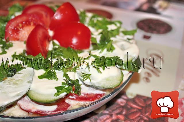 рецепт вкусной закуски с овощами