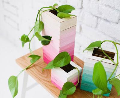 Vaso con bastoncini legno tutorial