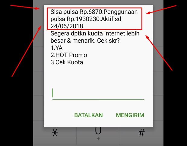 Dengan Menghubungi *888# Untuk Cek Pulsa Telkomsel 2