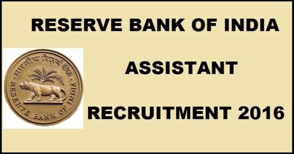 RBI Assistant Recruitment Exam Notification