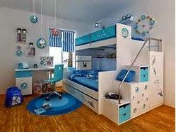 kamar desain anak kembar tingkat