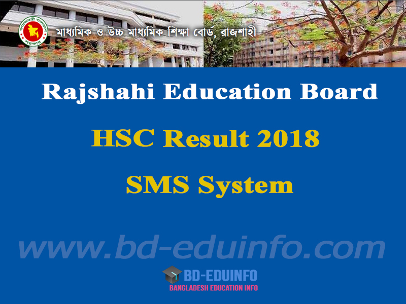 Rajshai Board HSC Exam Result 2018