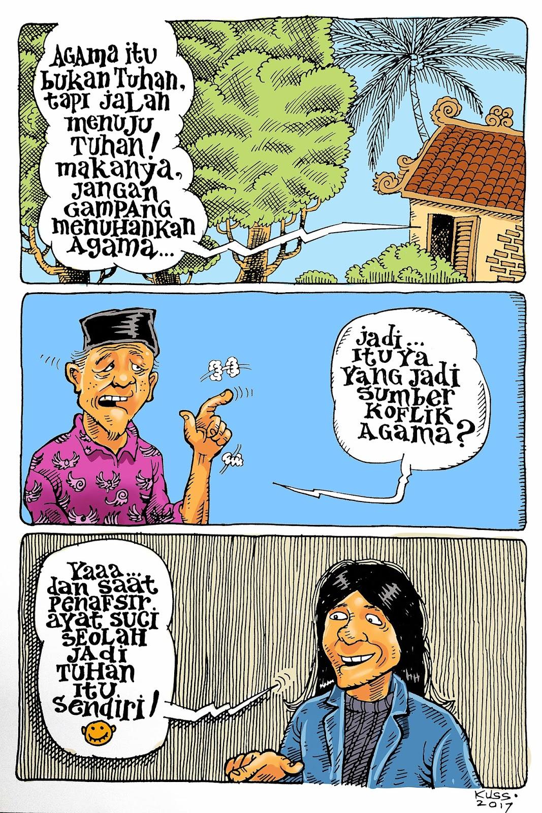 Kuss Indarto Re Kreasi Bersama Kartun