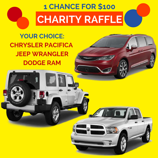 cca kids is hosting a car raffle for a chance to win a jeep wrangler dodge ram or chrysler pacifica through september 30 2017 only 1000 raffle tickets