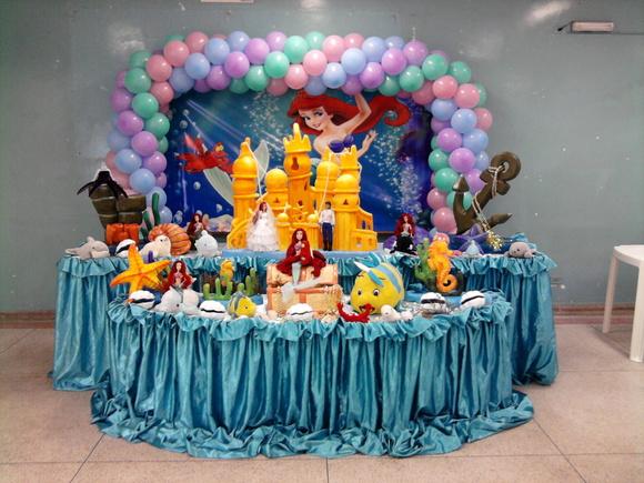Decoração completa Pequena Sereia Rede Festas Decorações