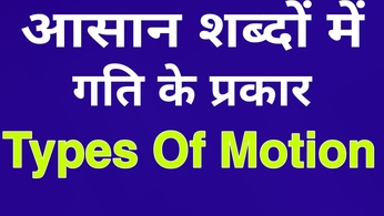 Types of motion गति के प्रकार Types of motion in hindi