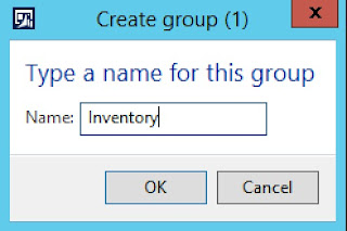 I created a group under favorites called Inventory.