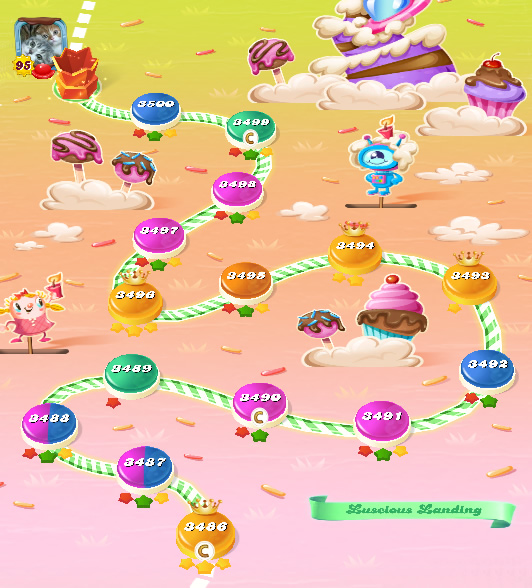 Candy Crush Saga level 3486-3500