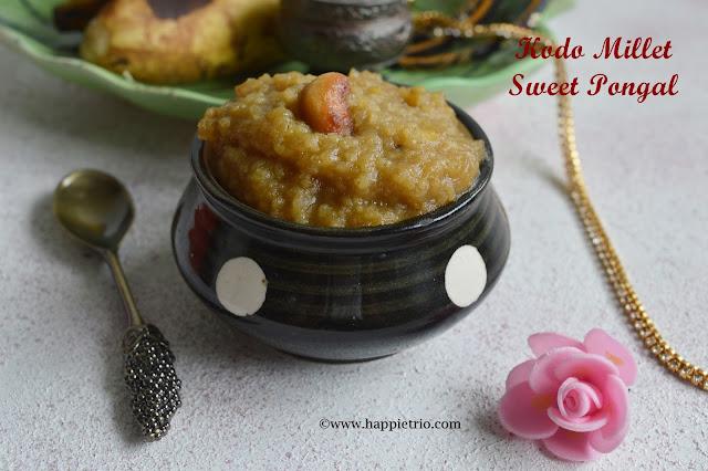 Varagu arisi Sakkarai Pongal |Kodo Millet Sweet Pongal