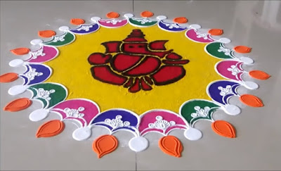 ganesha-simple-easy-rangoli-design-for-diwali-2018