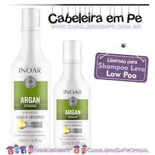 Shampoo e Condicionador Argan Infusion Liso e Sedoso - Inoar (Low Poo)