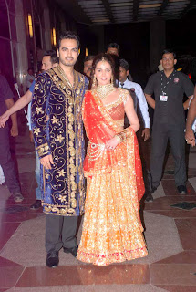 Actress Esha Deol's wedding sangeet ceremony pics,photo gallery