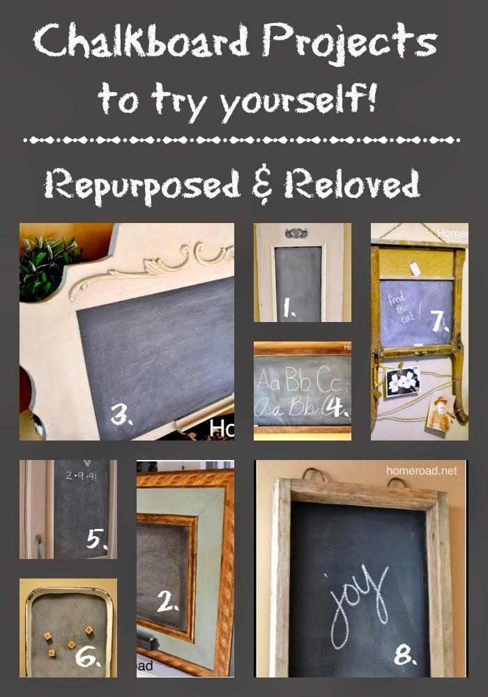 Repurposed Chalkboard Roundup