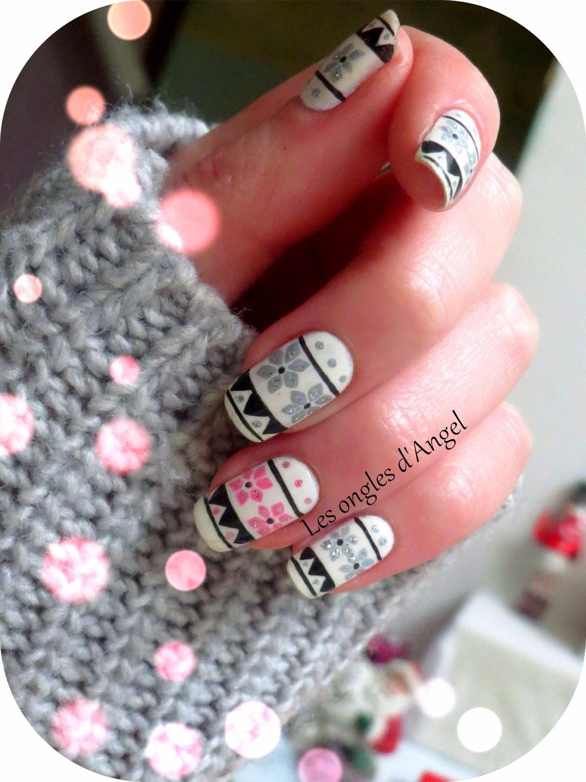 les ongles d 39 angel nail art de f tes pull d 39 hiver. Black Bedroom Furniture Sets. Home Design Ideas