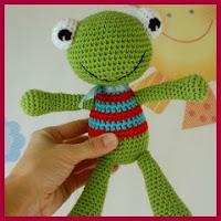 Patrón gratis rana crochet