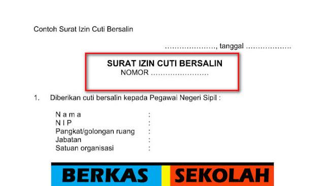 Download Contoh Surat Izin Cuti Bersalin Format Word
