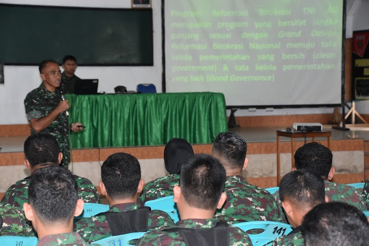 Irutum Itdam XIV/Hsn, Arahan Reformasi dan Birokrasi TNI AD di Korem 141/Tp
