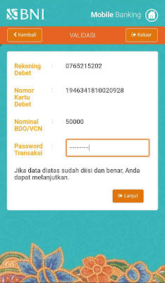 LANGKAH MUDAH MEMBUAT AKUN VCN BNI ATAU BNI DEBIT ONLINE MOBILE BANKING