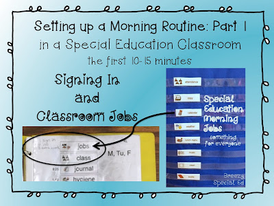 Morning Routine and Morning Meeting - predictability for special education class helps the entire day run more smoothly!