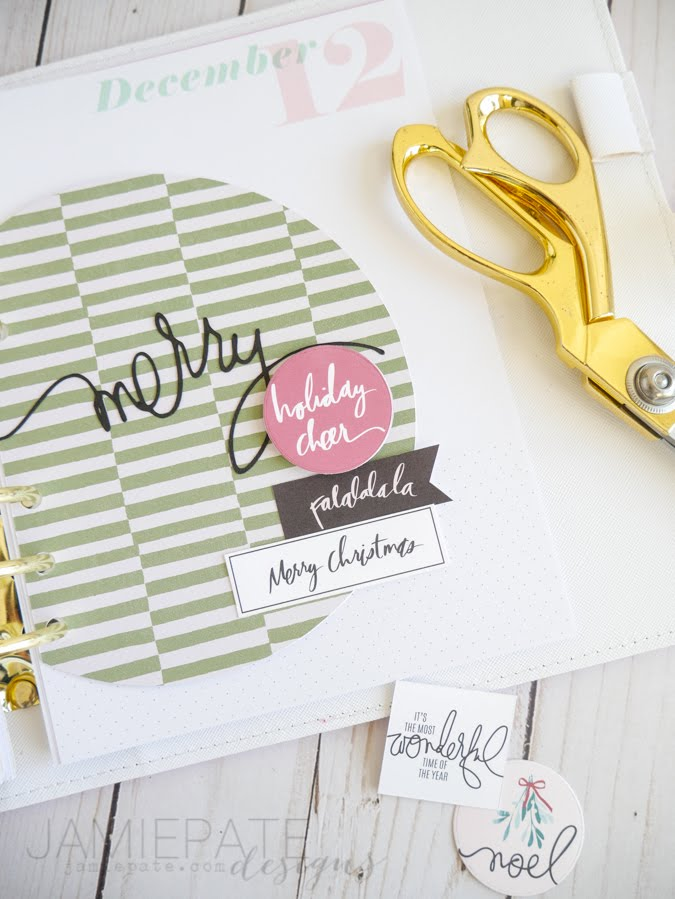 Heidi Swapp Holiday Planner Freebie by Jamie Pate | @jamiepate for @heidiswapp